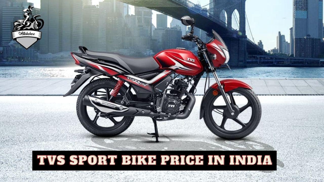 TVS Sport Bike price in India