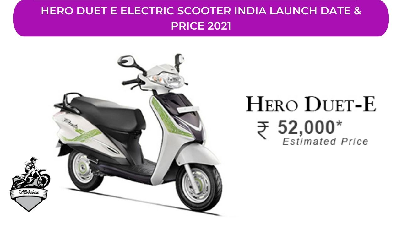 Hero Duet E Electric Scooter India Launch Date & Price 2021